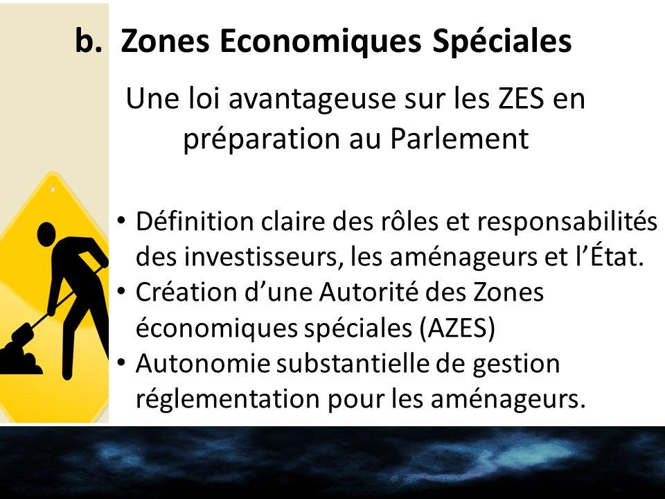 b. Zones Economiques Spéciales