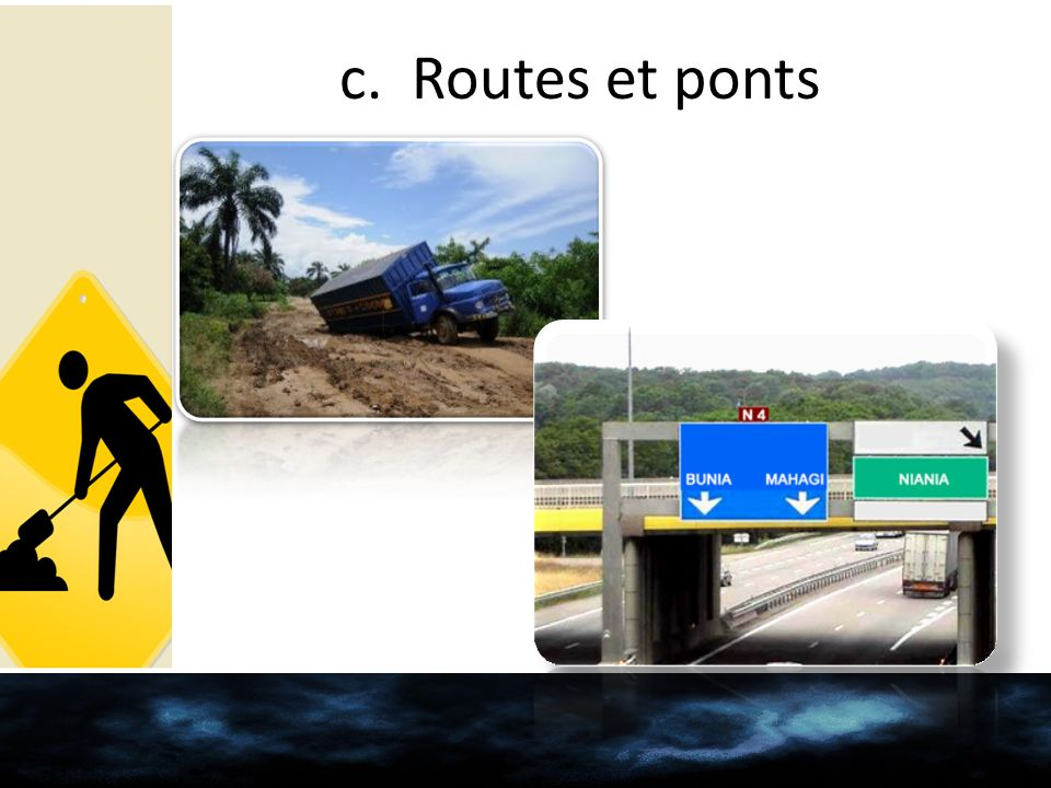c. Routes et ponts