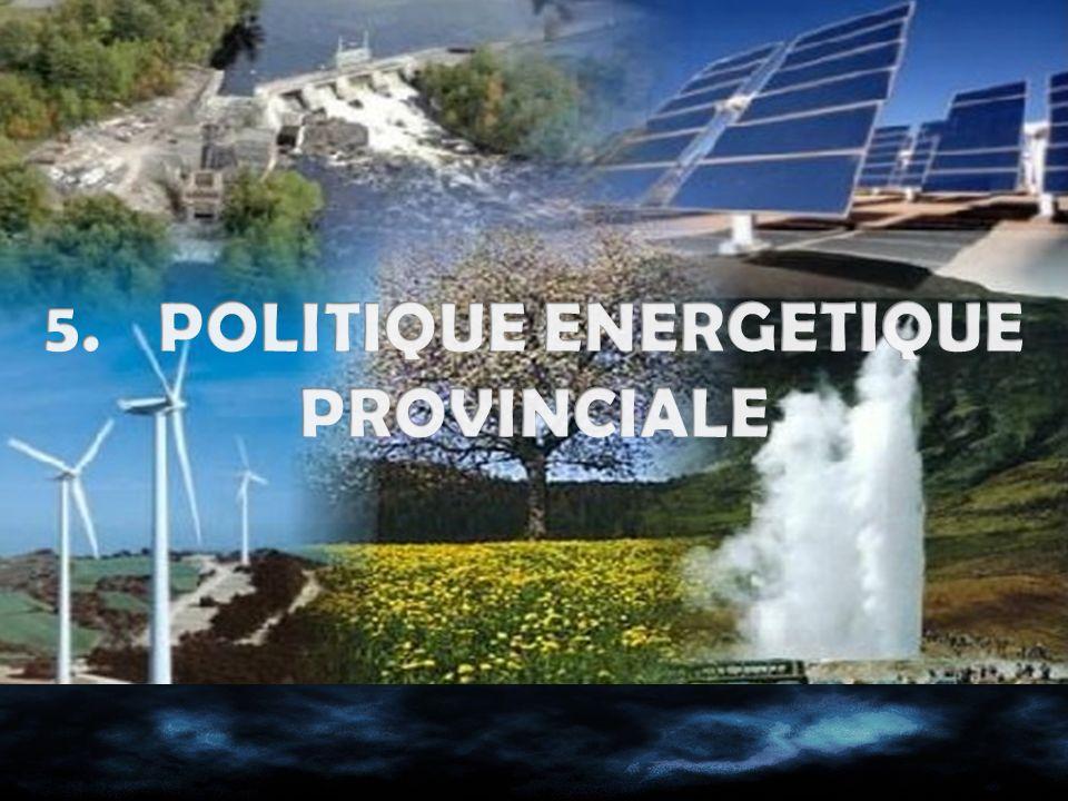 5. POLITIQUE ENERGETIQUE PROVINCIALE
