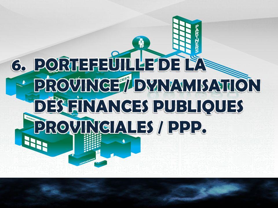 PORTEFEUILLE DE LA PROVINCE / DYNAMISATION DES FINANCES PUBLIQUES PROVINCIALES / PPP.