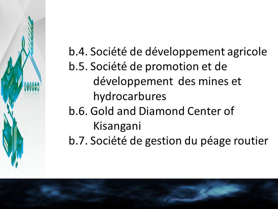 b.4. Société de développement agricole