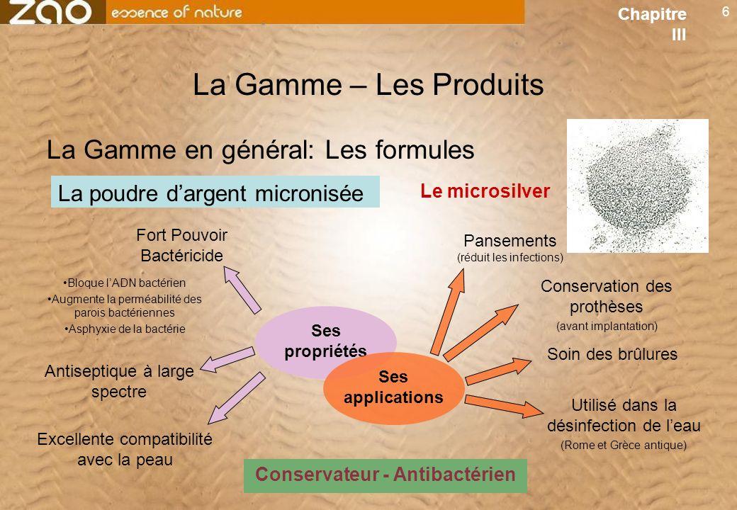 Conservateur - Antibactérien