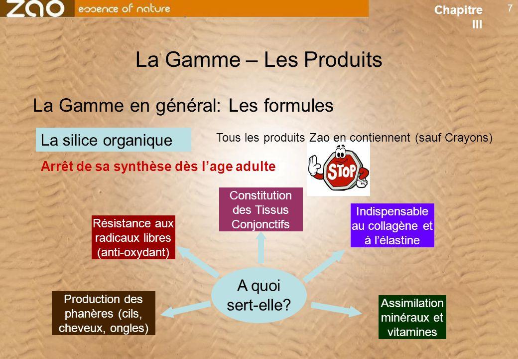 La Gamme – Les Produits La Gamme en général: Les formules