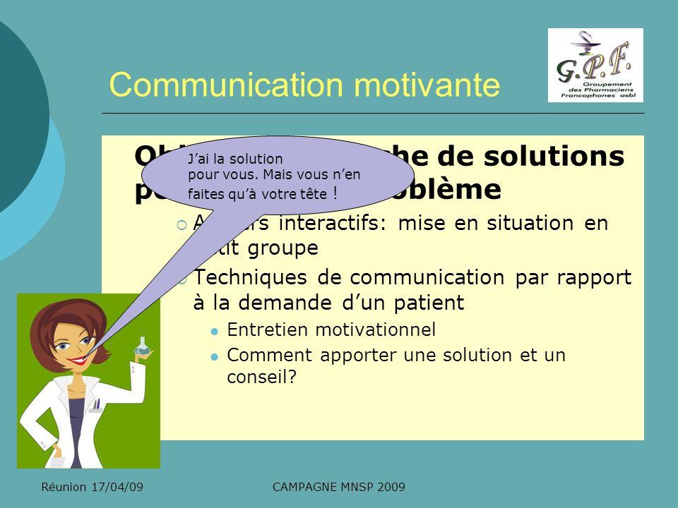 Communication motivante