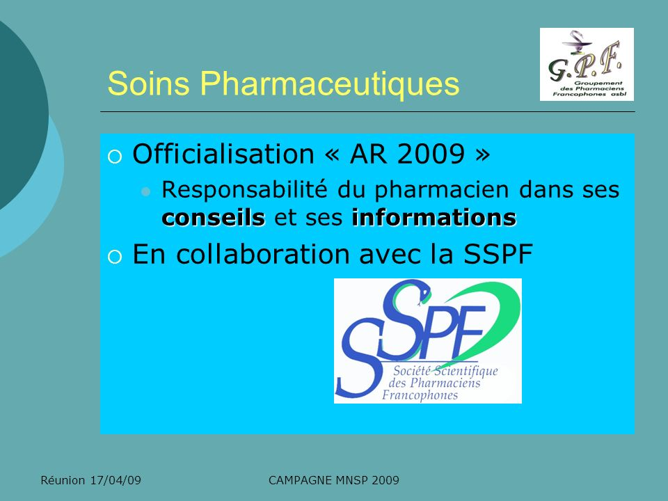 Soins Pharmaceutiques