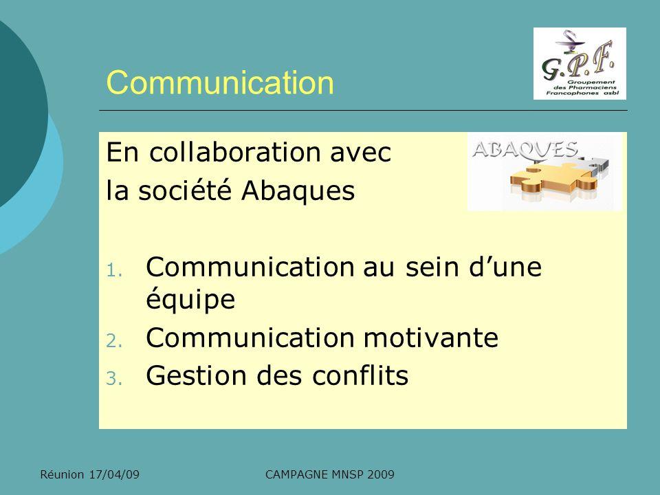 Communication En collaboration avec la société Abaques