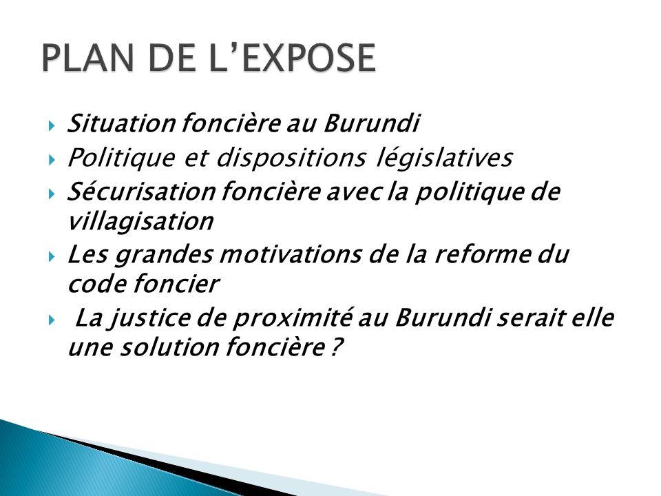 PLAN DE L'EXPOSE Politique et dispositions législatives