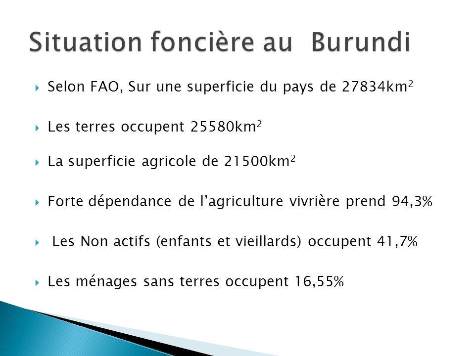 Situation foncière au Burundi