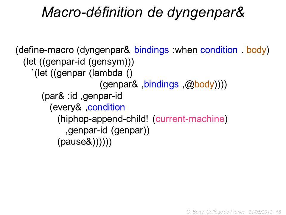 Macro-définition de dyngenpar&