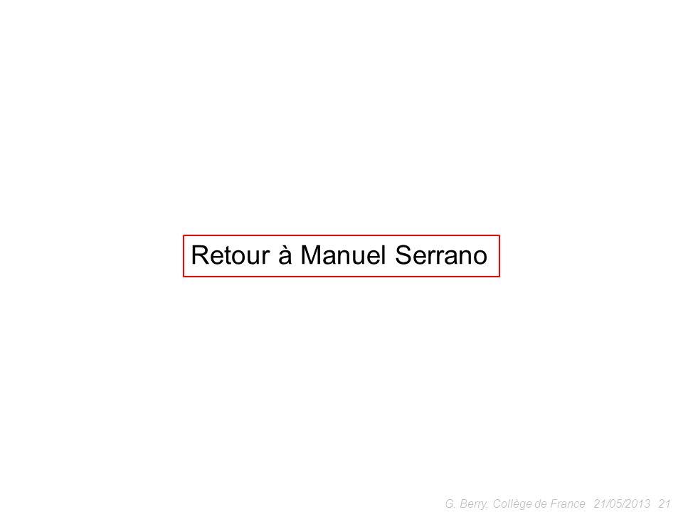 Retour à Manuel Serrano