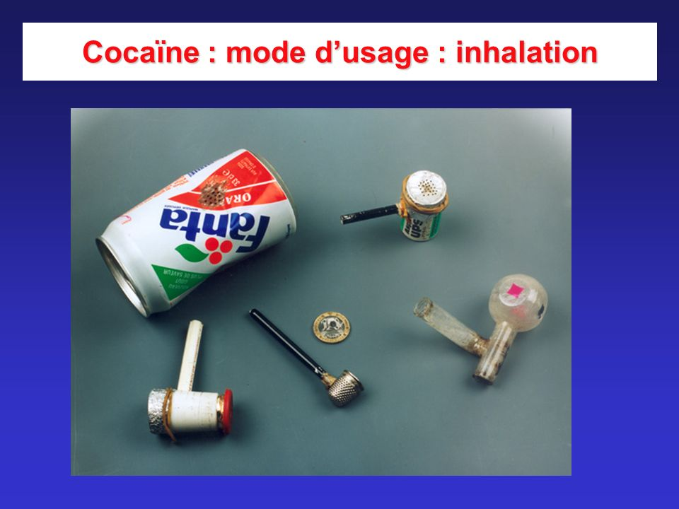 Cocaïne : mode d'usage : inhalation