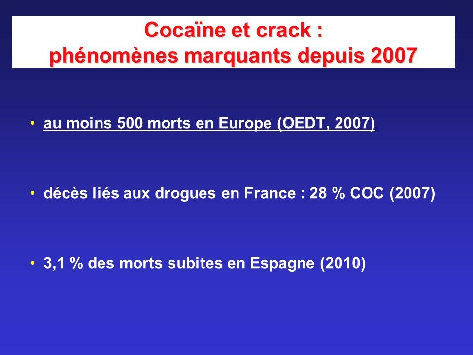 Cocaïne et crack : phénomènes marquants depuis 2007