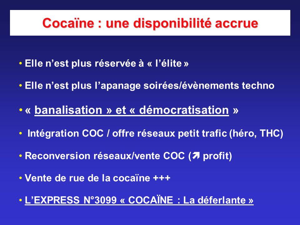 Cocaïne : une disponibilité accrue