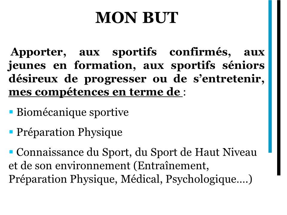 MON BUT Biomécanique sportive Préparation Physique