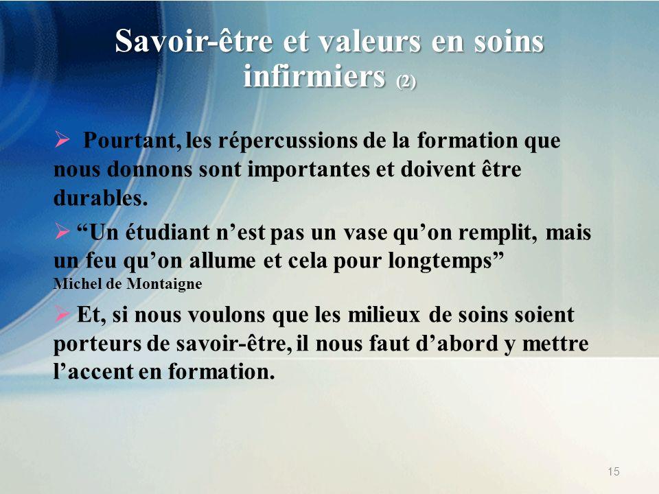 Savoir-être et valeurs en soins infirmiers (2)