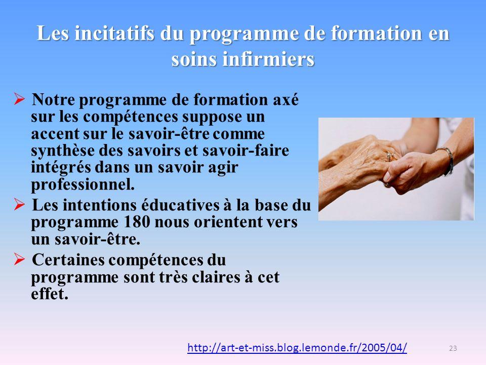 Les incitatifs du programme de formation en soins infirmiers