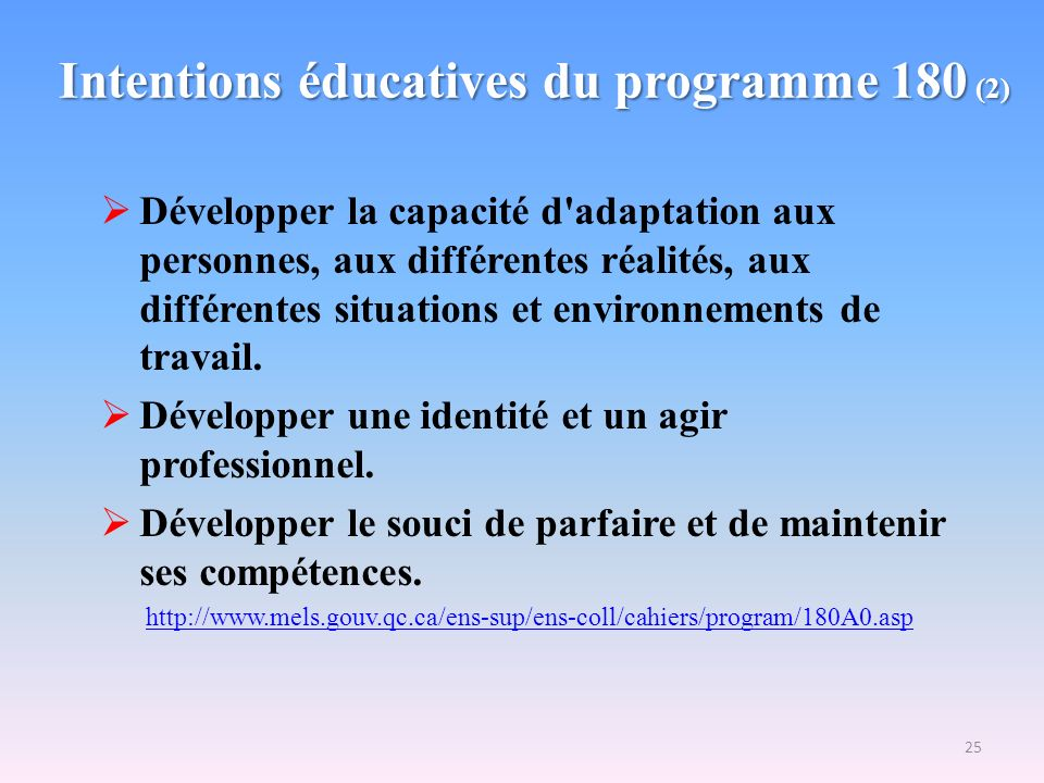Intentions éducatives du programme 180 (2)