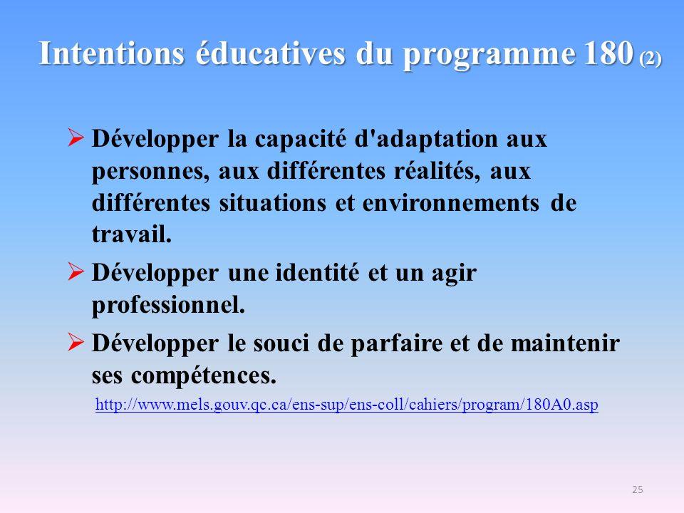 Intentions éducatives du programme 180 (2)