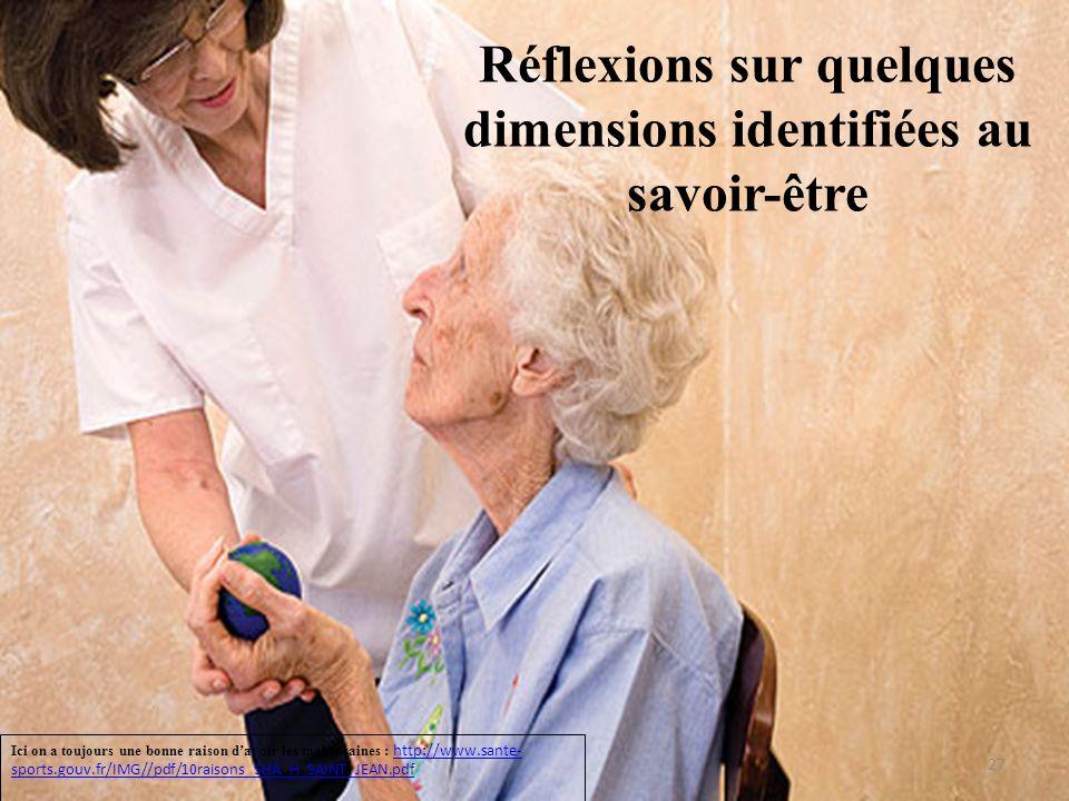Réflexions sur quelques dimensions identifiées au savoir-être