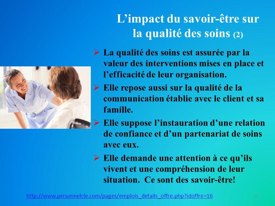 L'impact du savoir-être sur la qualité des soins (2)