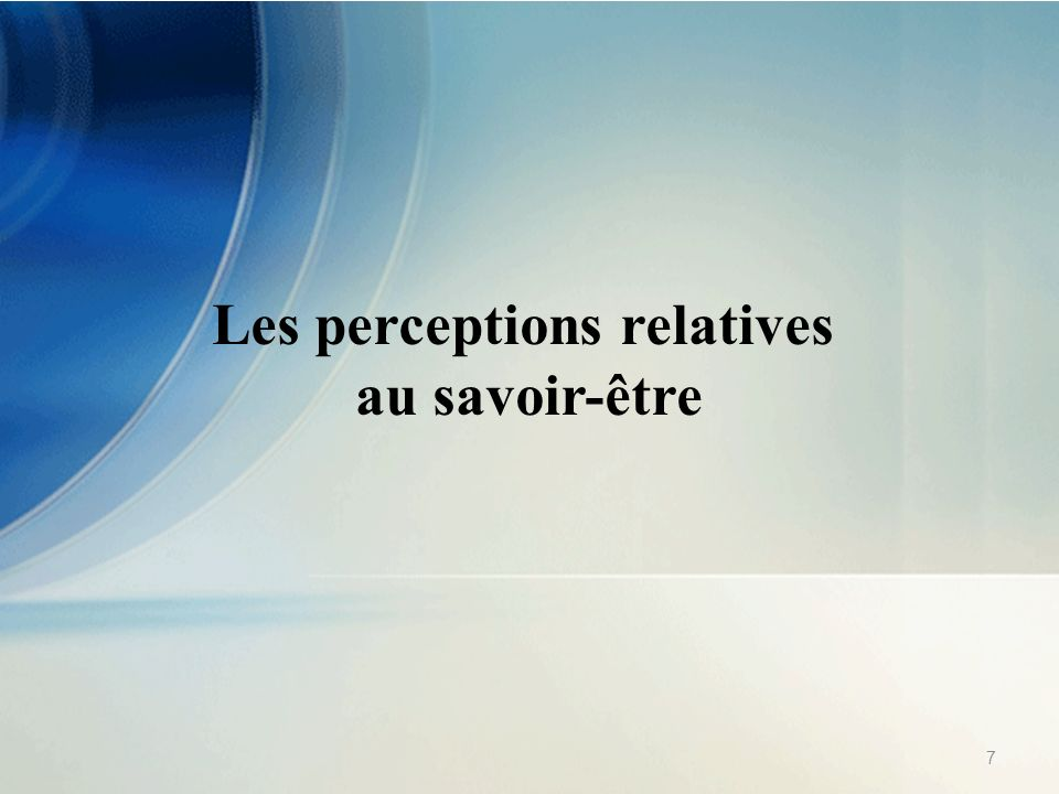 Les perceptions relatives