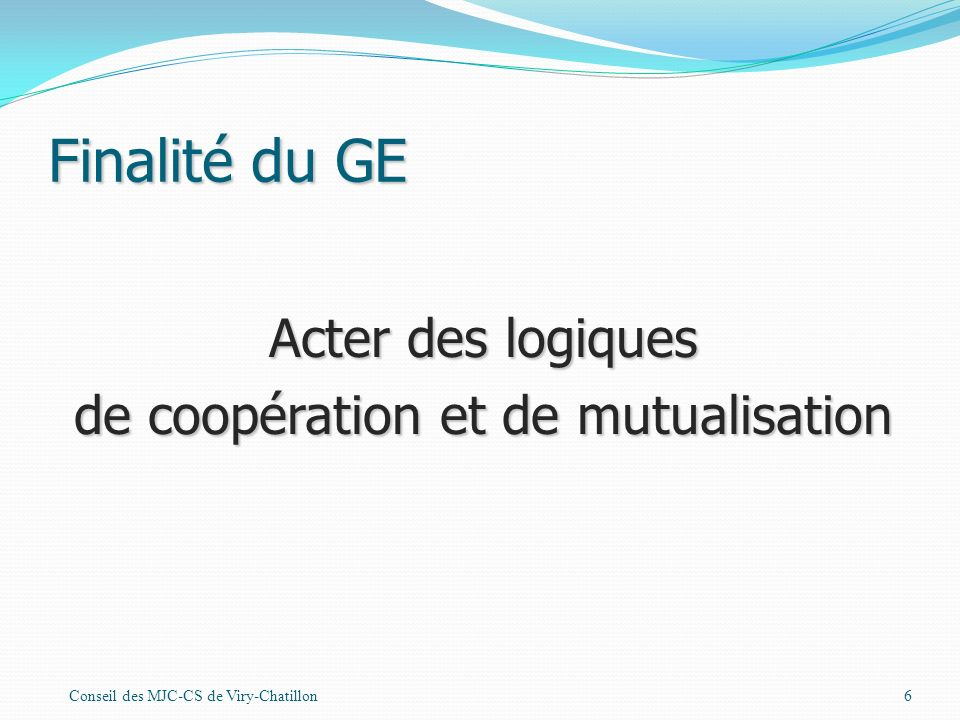 de coopération et de mutualisation