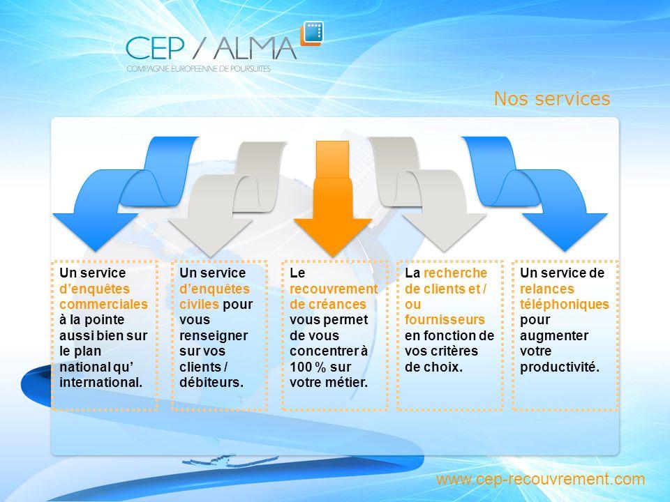 Nos services Nos services www.cep-recouvrement.com