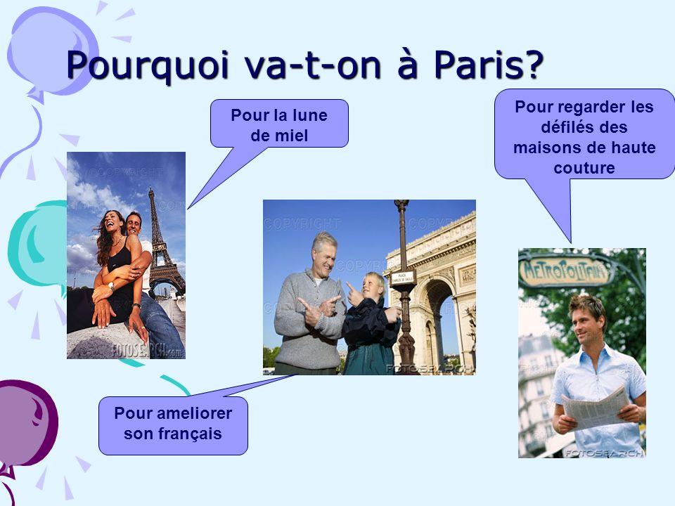 Pourquoi va-t-on à Paris