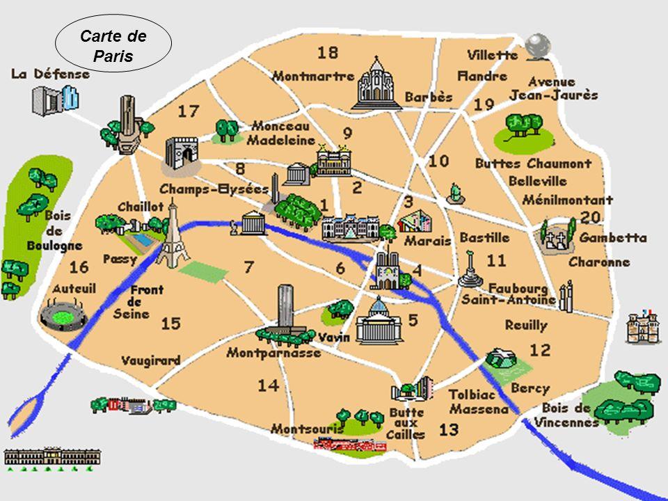Paris est divisé en 20 arrondissements