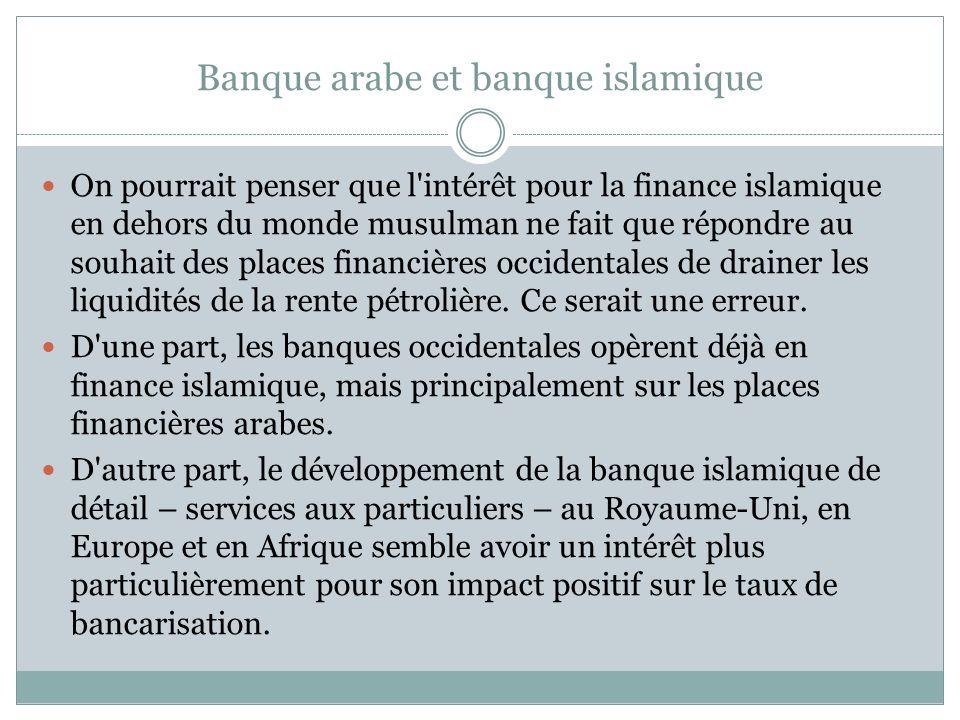 Banque arabe et banque islamique