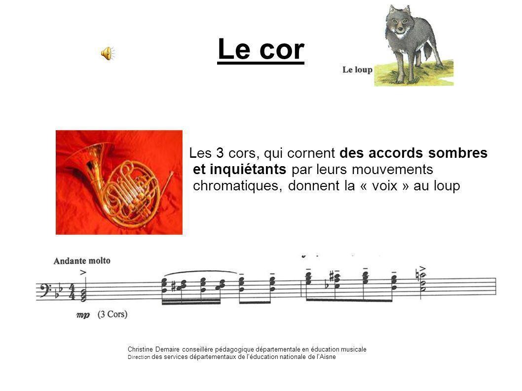 Le cor Les 3 cors, qui cornent des accords sombres