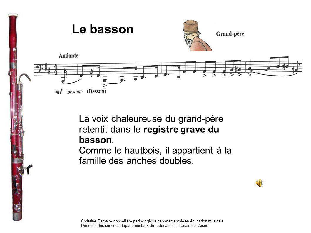 Le basson La voix chaleureuse du grand-père