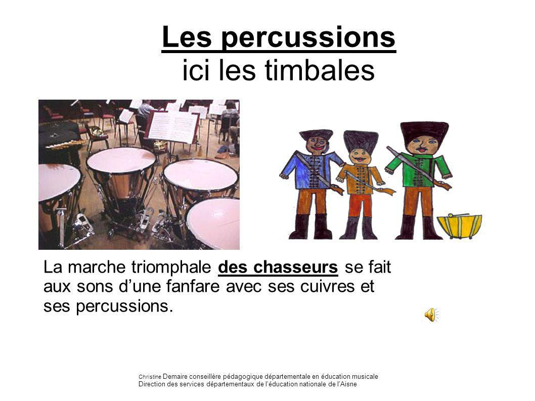 Les percussions ici les timbales
