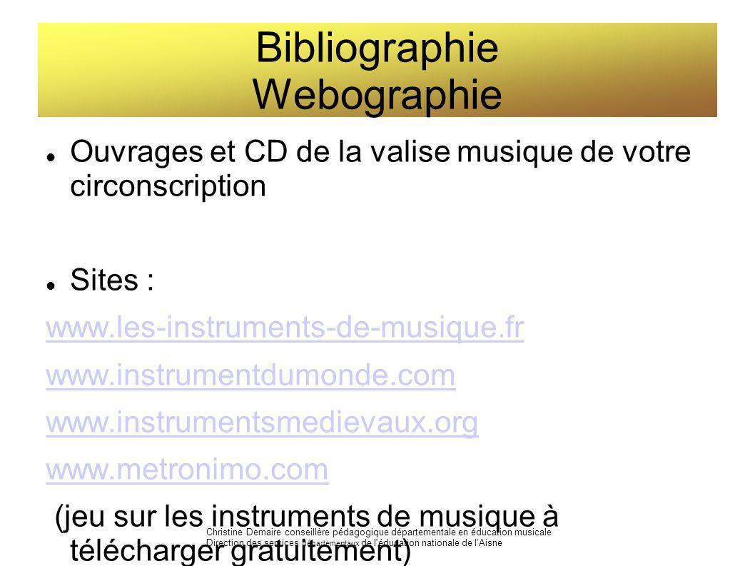 Bibliographie Webographie