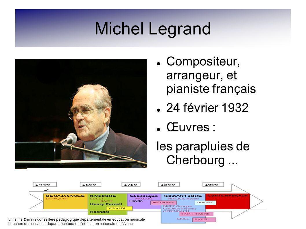 Michel Legrand Compositeur, arrangeur, et pianiste français