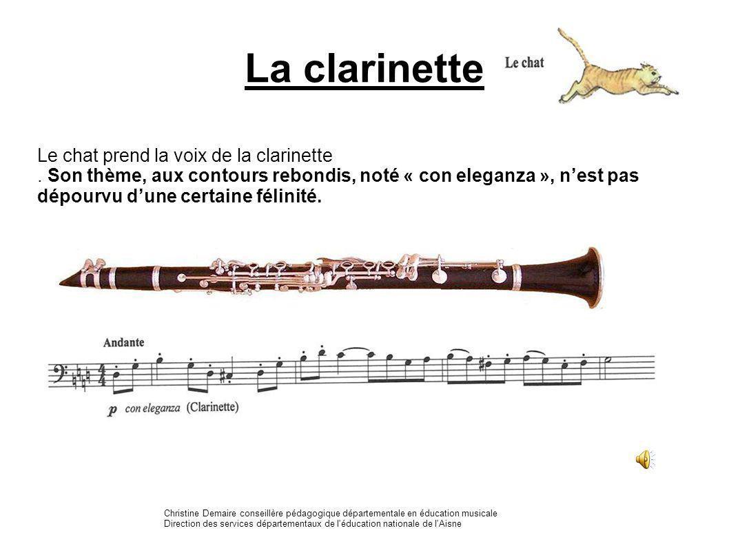 La clarinette Le chat prend la voix de la clarinette