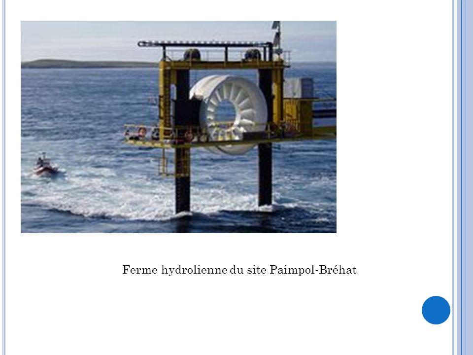 Ferme hydrolienne du site Paimpol-Bréhat