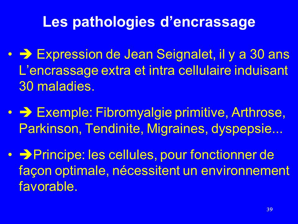 Les pathologies d'encrassage