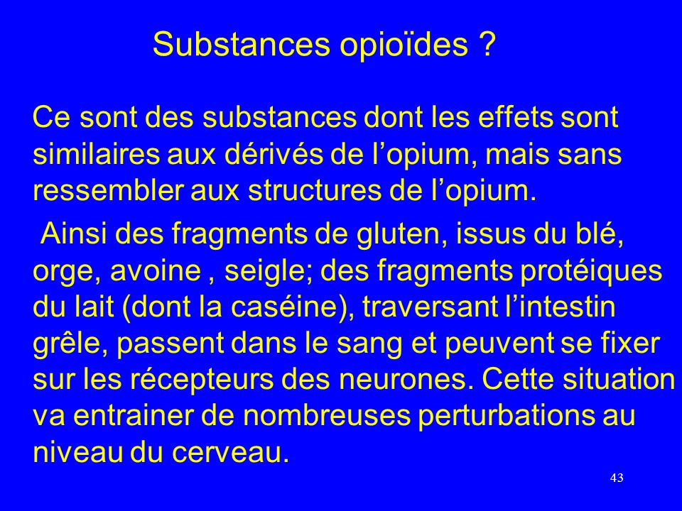 Substances opioïdes