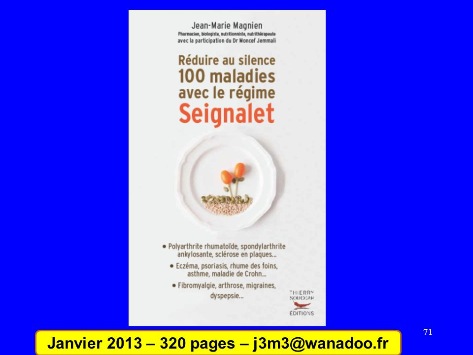 Janvier 2013 – 320 pages – j3m3@wanadoo.fr