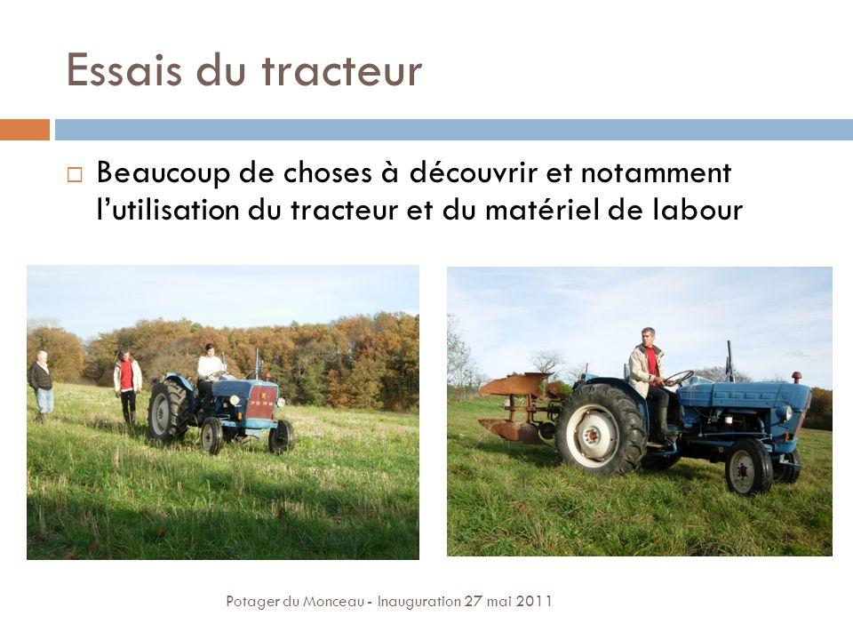 Essais du tracteur Beaucoup de choses à découvrir et notamment l'utilisation du tracteur et du matériel de labour.