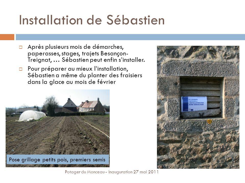 Installation de Sébastien