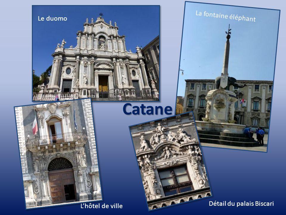 Catane La fontaine éléphant Le duomo Détail du palais Biscari