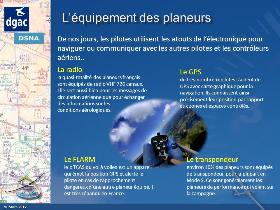 L'équipement des planeurs