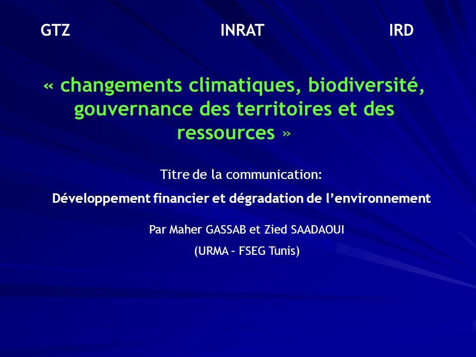 Développement financier et dégradation de l'environnement