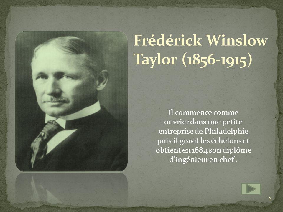 Frédérick Winslow Taylor (1856-1915)