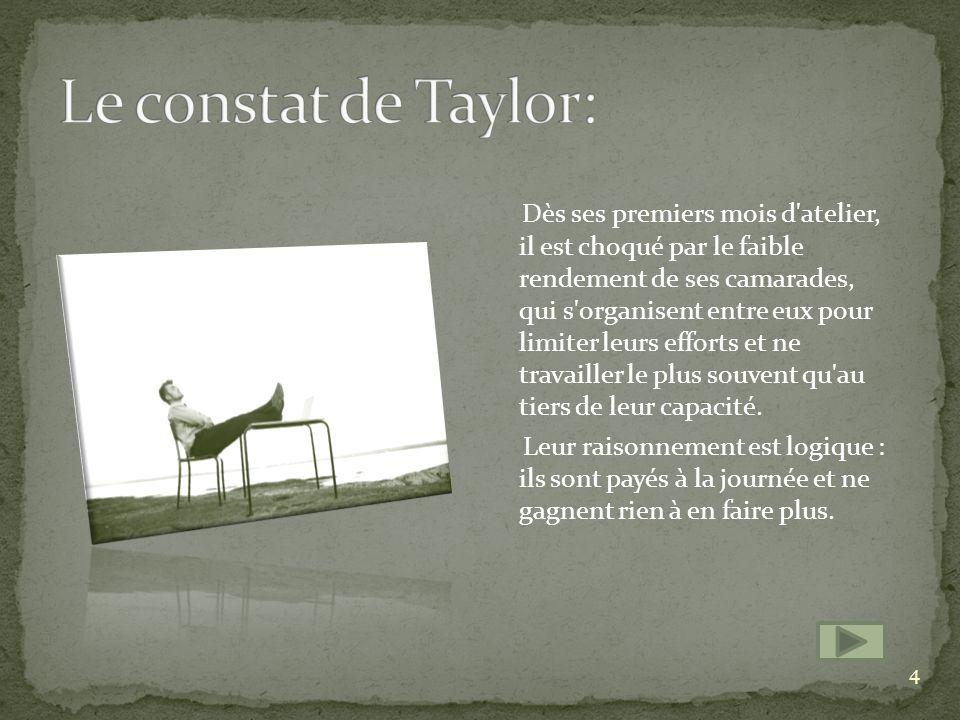 Le constat de Taylor: