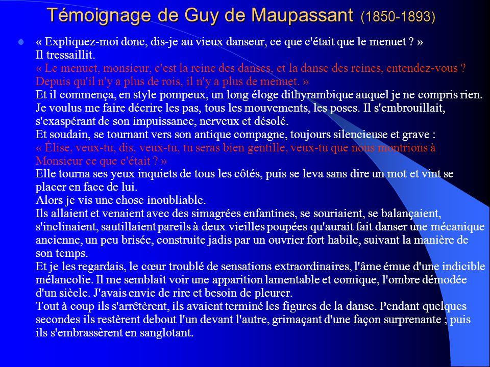 Témoignage de Guy de Maupassant (1850-1893)