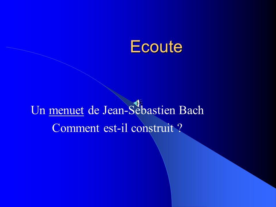 Un menuet de Jean-Sébastien Bach Comment est-il construit