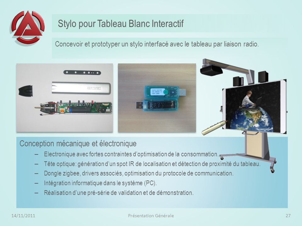 Stylo pour Tableau Blanc Interactif